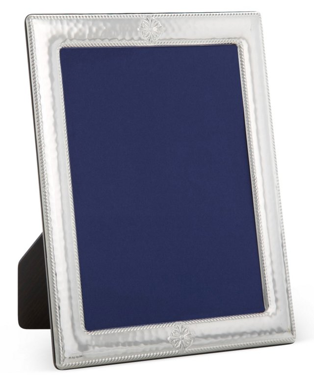 Sterling-Silver Roped Hammered Frame, 4x6