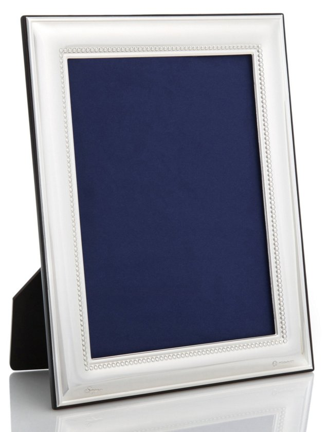 Sterling-Silver Beaded Frame, 8x10
