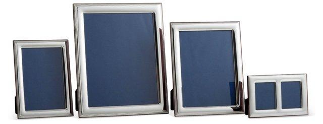 Asst. of 4 Sterling Silver Roped Frames