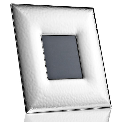 Sterling-Silver Wide Hammered Frame, 3x3
