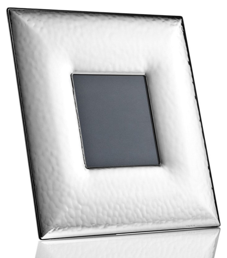 Sterling-Silver Wide Hammered Frame, 3x3