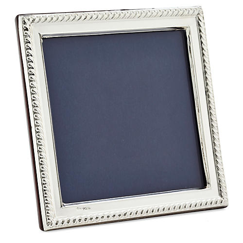 925 Sterling-Silver Roped Frame, 5x5
