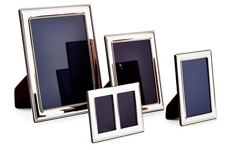 Asst. of 4 Double Beaded Sterling Frames