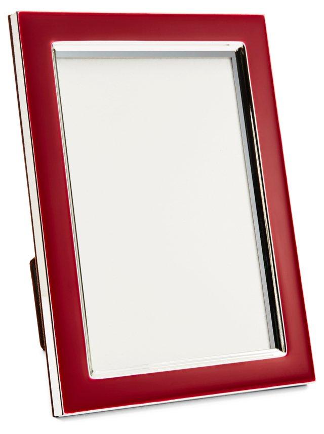 Enamel Frame, 4x6, Red