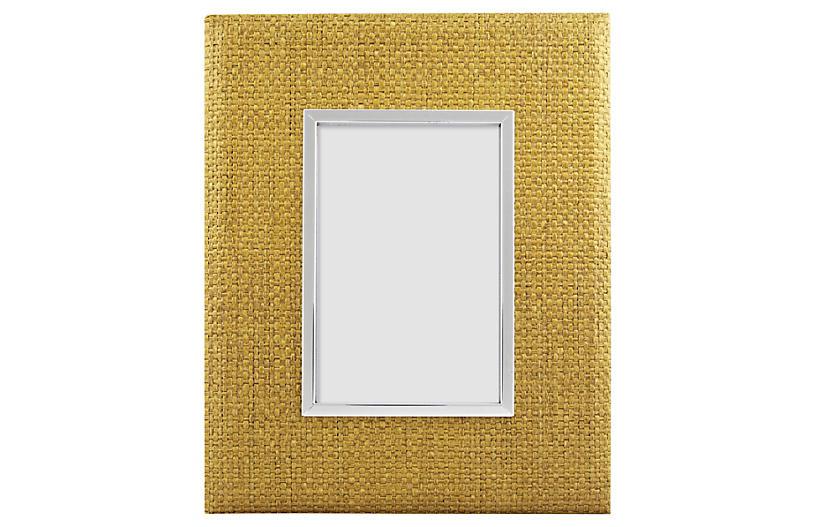 Rattan Frame, 4x6, Yellow