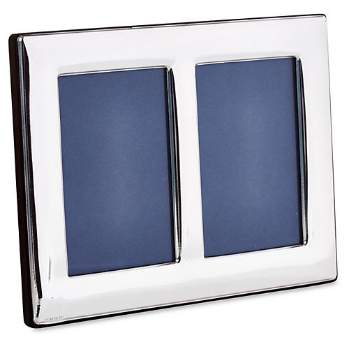Double Sterling-Silver Frame, 2x3