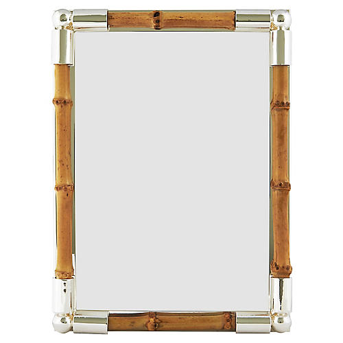 Lepage Bamboo Picture Frame, Silver/Tan