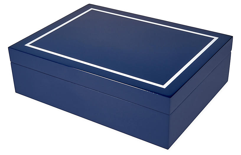 Touro Jewelry Box, Blue