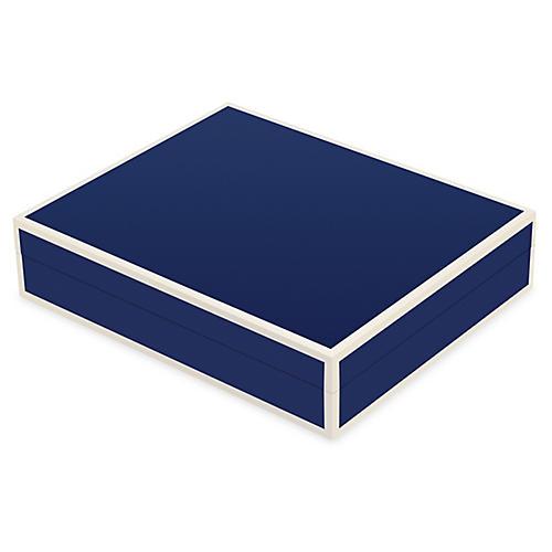 "9"" Lipsey Cufflink Box, Blue"