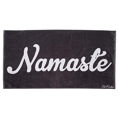 Namaste Beach Towel, Dark Gray
