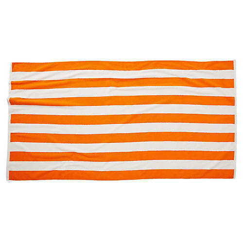 Cabana Stripe Beach Towel, Orange