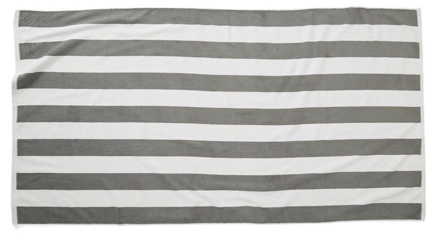 Cabana Stripe Beach Towel Pewter One Kings Lane