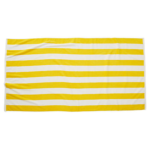 Cabana Stripe Beach Towel, Yellow