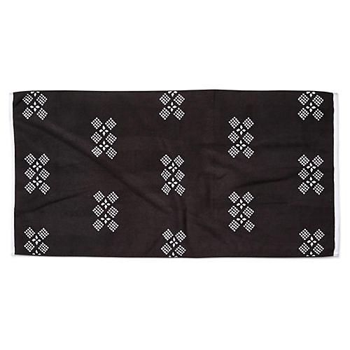 Peffley Beach Towel, Black