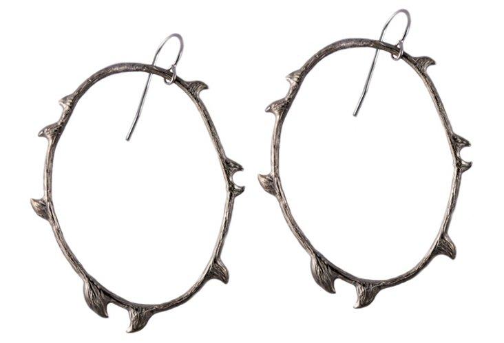 Tory Earrings, Oxidized SS