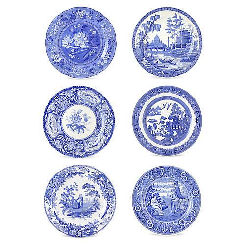 Asst. of 6 Porcelain Georgian Plates