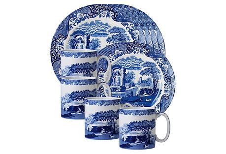 12-Pc Porcelain Dinnerware Set