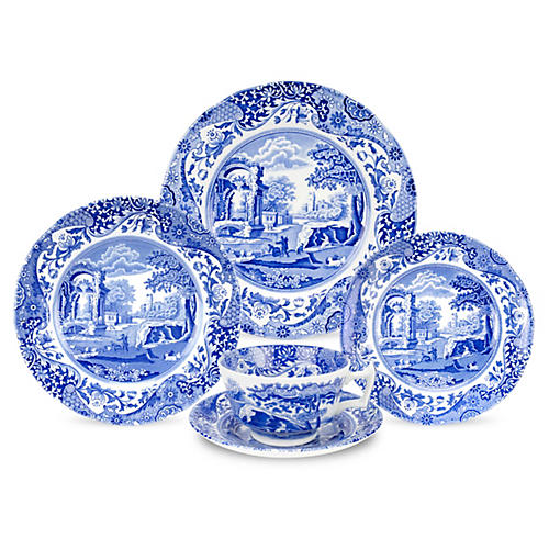 5-Pc Porcelain Place Setting