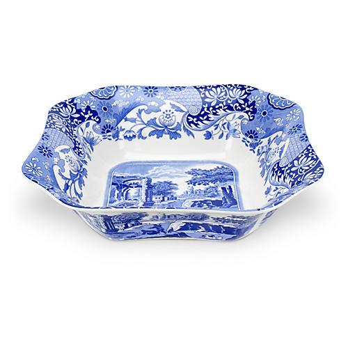 Porcelain Scenic Square Serving Bowl