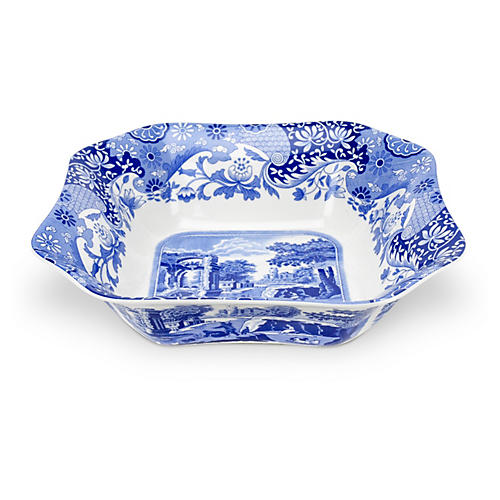 Porcelain Scenic Square Serving Bowl