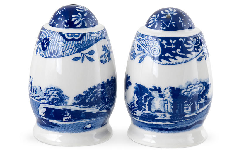 Pair of Porcelain S&P Shakers