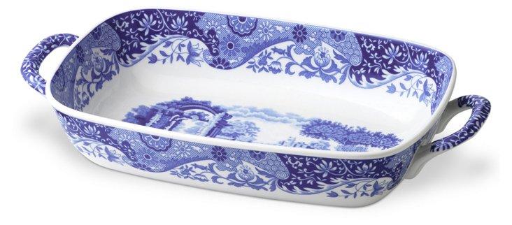 Porcelain Handled Serving Dish