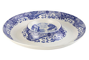 Porcelain Scenic Chip & Dip Serving Tray*
