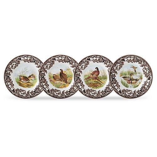 S/4 Birds Canapé Plates