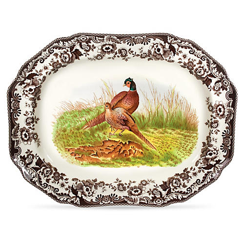 Octagonal Pheasant Platter