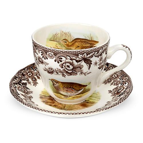 Pheasant Teacup & Saucer