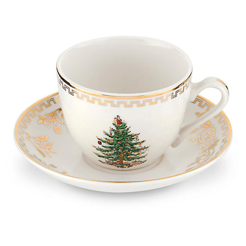 Holiday Teacup & Saucer