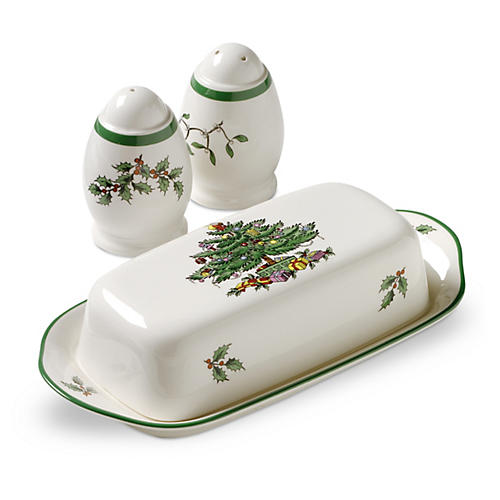 3-Pc Christmas Tree Hostess Set