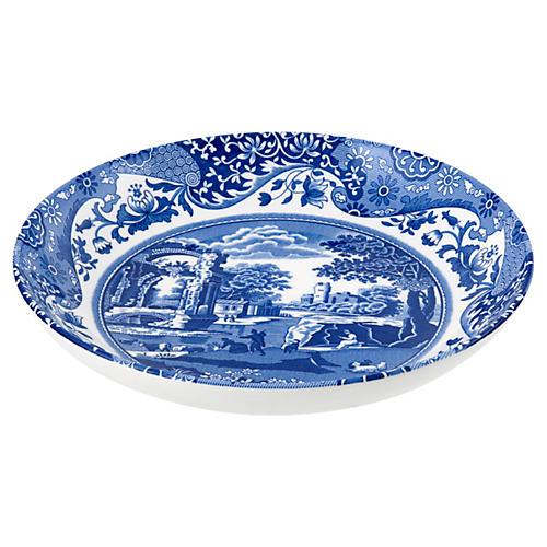 S/4 Blue Italian Pasta Bowls