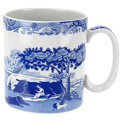 Blue Italian Mugs, Set of 4