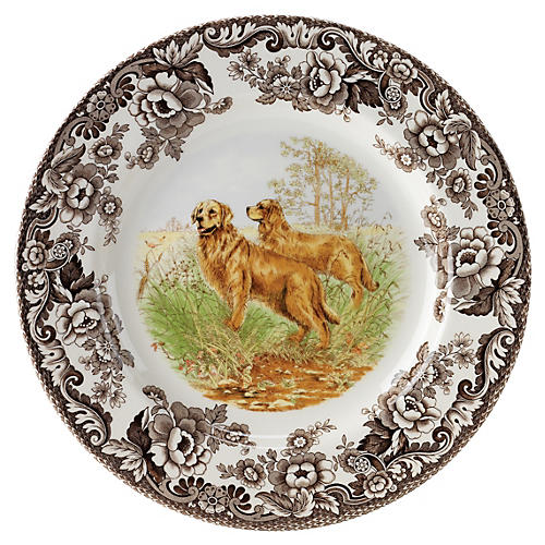 Golden Retriever Dinner Plate