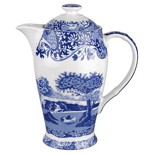 Blue Italian Hot Beverage Pot, 1.5 Pints
