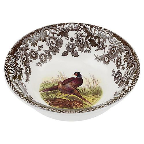 "10.5"" Woodland Pheasant Mini Bowl"