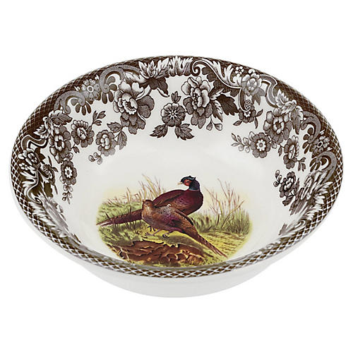 "10.5"" Woodland Pheasant Mini Bowl"