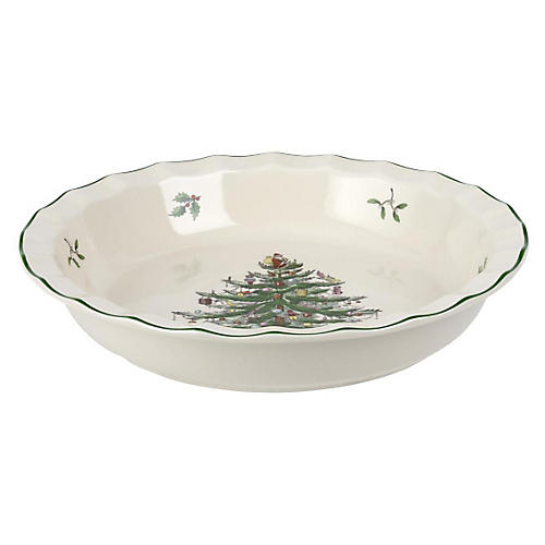 Sculpted Pie Dish, Christmas Tree