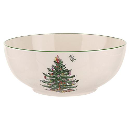 """8"""" Round Bowl, Christmas Tree"""