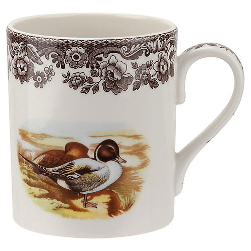 Woodland Pintail Coffee Mug, White/Multi