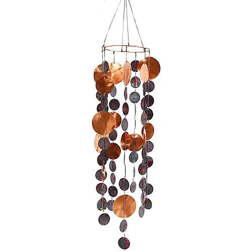 """26"""" Rani Wind Chimes, Copper/Purple"""