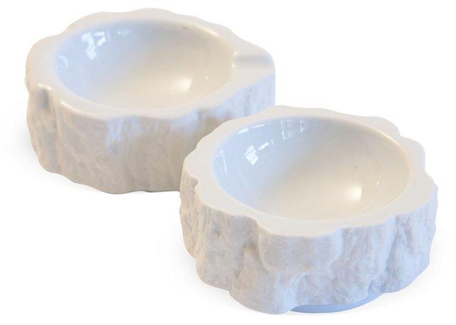 Bareuther Porcelain Ashtrays, Pair
