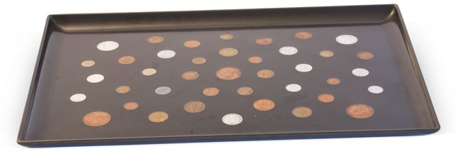 Couroc of Monterey Tray w/ Coins I