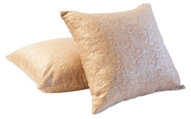 Fiori Fortuny Pillows, Pair, III