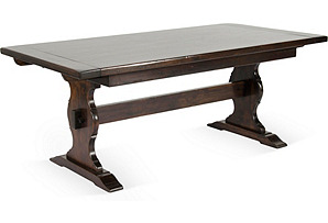 Antique Solid Wood Trestle Dining Table