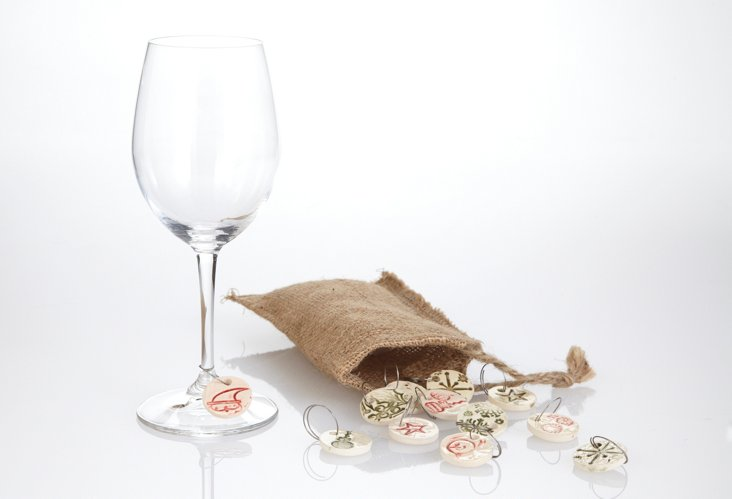 S/12 Assorted Wine Charms