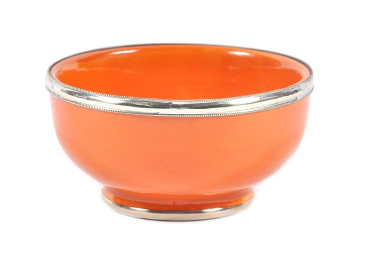 Ceramic Moroccan Bowl, Lime