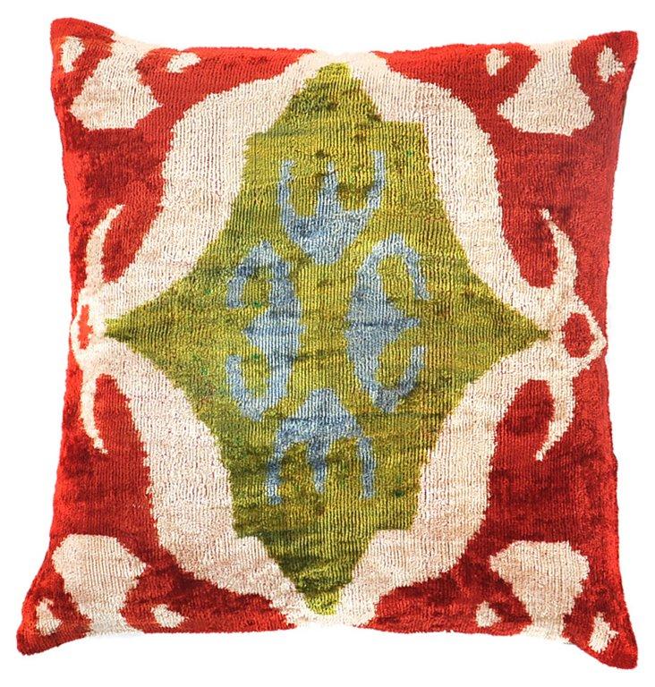 Ana 15x15 Silk Velvet Pillow, Multi