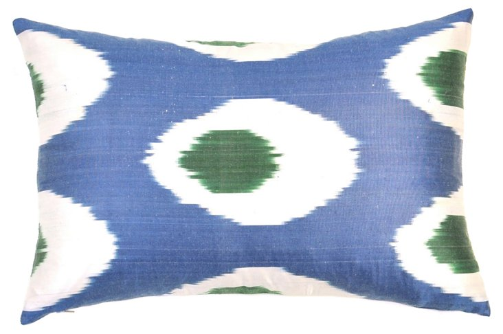 Verde Ojo 14x20 Silk Pillow, Multi